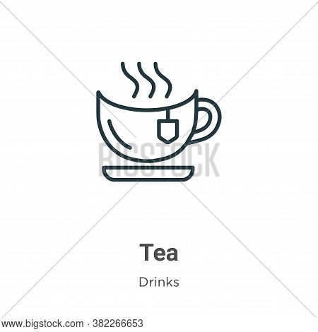 Tea icon isolated on white background from drinks collection. Tea icon trendy and modern Tea symbol