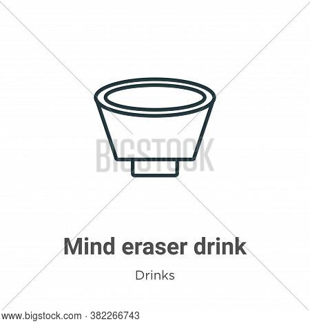 Mind eraser drink icon isolated on white background from drinks collection. Mind eraser drink icon t