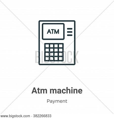 Atm machine icon isolated on white background from payment collection. Atm machine icon trendy and m