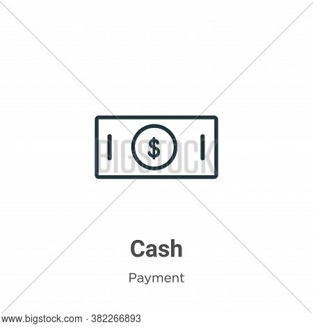 Cash icon isolated on white background from payment collection. Cash icon trendy and modern Cash sym