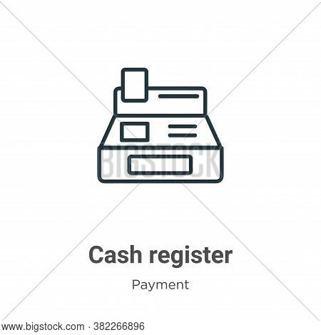 Cash register icon isolated on white background from payment collection. Cash register icon trendy a