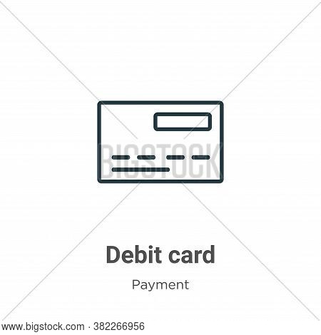 Debit Card Icon From Ecommerce Collection Isolated On White Background.