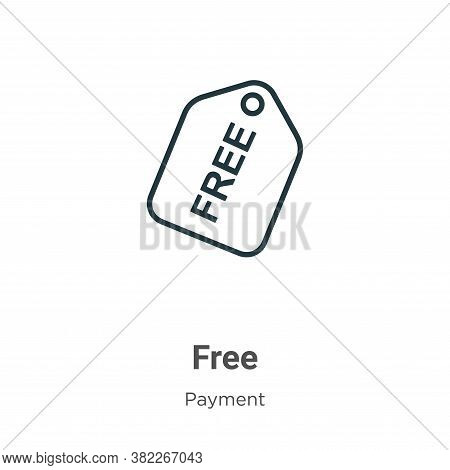 Free icon isolated on white background from ecommerce collection. Free icon trendy and modern Free s