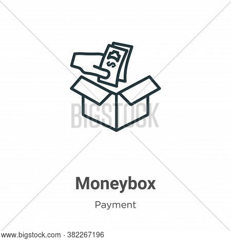 Moneybox icon isolated on white background from payment collection. Moneybox icon trendy and modern