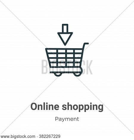 Online shopping icon isolated on white background from ecommerce collection. Online shopping icon tr