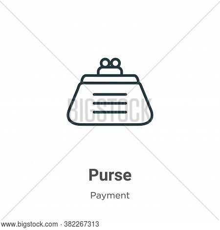 Purse icon isolated on white background from payment collection. Purse icon trendy and modern Purse