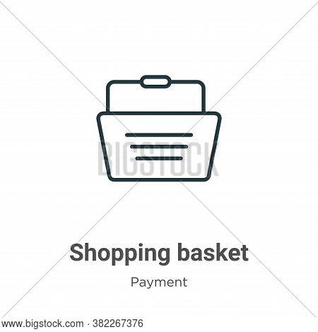 Shopping basket icon isolated on white background from ecommerce collection. Shopping basket icon tr