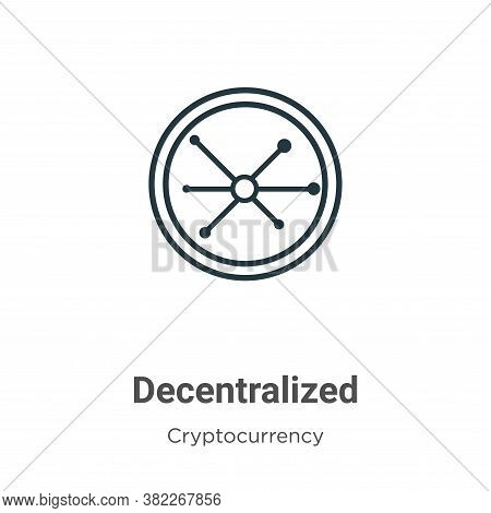 Decentralized icon isolated on white background from cryptocurrency collection. Decentralized icon t