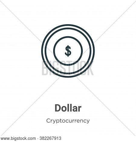 Dollar symbol icon isolated on white background from cryptocurrency collection. Dollar symbol icon t