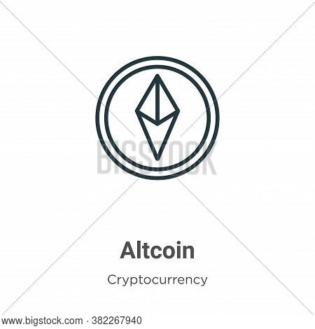 Altcoin icon isolated on white background from cryptocurrency collection. Altcoin icon trendy and mo