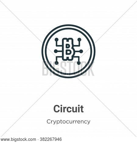 Circuit icon isolated on white background from cryptocurrency collection. Circuit icon trendy and mo