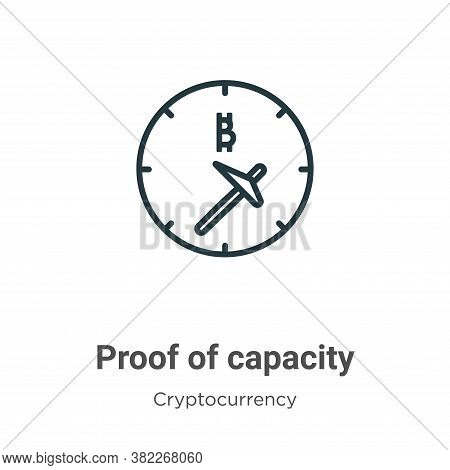 Proof Of Capacity Icon From Cryptocurrency Collection Isolated On White Background.