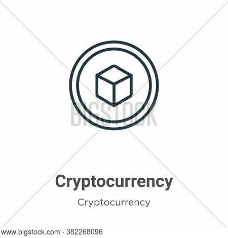 Cryptocurrency icon isolated on white background from cryptocurrency collection. Cryptocurrency icon