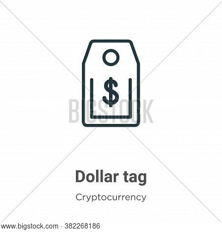 Dollar tag icon isolated on white background from economyandfinance collection. Dollar tag icon tren