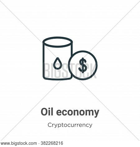 Oil economy icon isolated on white background from economyandfinance collection. Oil economy icon tr