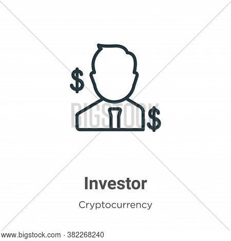Investor icon isolated on white background from economyandfinance collection. Investor icon trendy a