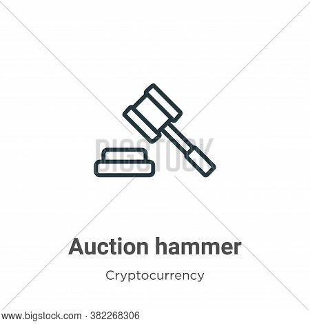 Auction hammer icon isolated on white background from economyandfinance collection. Auction hammer i