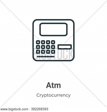 Atm icon isolated on white background from economyandfinance collection. Atm icon trendy and modern