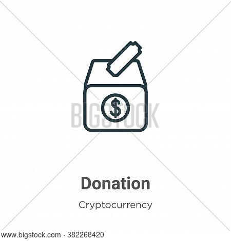 Donation icon isolated on white background from economyandfinance collection. Donation icon trendy a