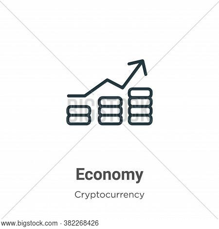 Economy icon isolated on white background from economyandfinance collection. Economy icon trendy and