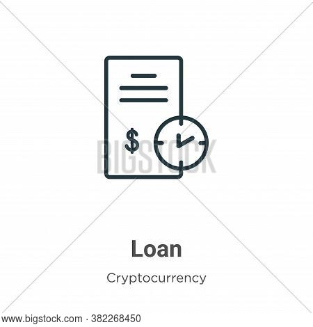 Loan icon isolated on white background from economyandfinance collection. Loan icon trendy and moder