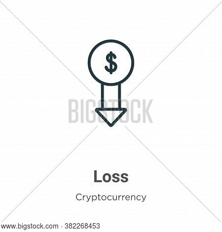 Loss icon isolated on white background from economyandfinance collection. Loss icon trendy and moder