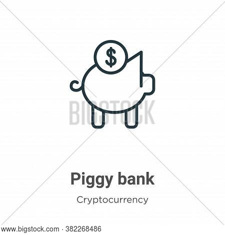 Piggy bank icon isolated on white background from economyandfinance collection. Piggy bank icon tren