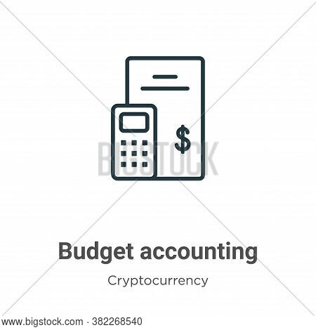 Budget accounting icon isolated on white background from economyandfinance collection. Budget accoun