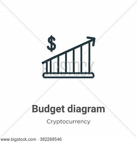 Budget diagram icon isolated on white background from economyandfinance collection. Budget diagram i