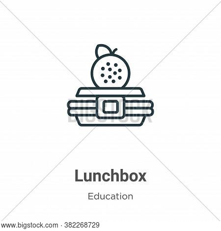 Lunchbox icon isolated on white background from education collection. Lunchbox icon trendy and moder