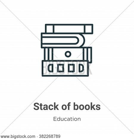 Stack of books icon isolated on white background from education collection. Stack of books icon tren
