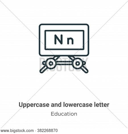 Uppercase And Lowercase Letter Icon From Education Collection Isolated On White Background.