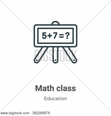 Math class icon isolated on white background from education collection. Math class icon trendy and m