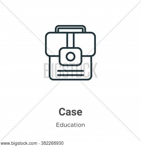 Case icon isolated on white background from education collection. Case icon trendy and modern Case s