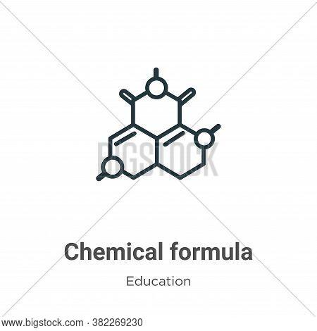 Chemical formula icon isolated on white background from education collection. Chemical formula icon