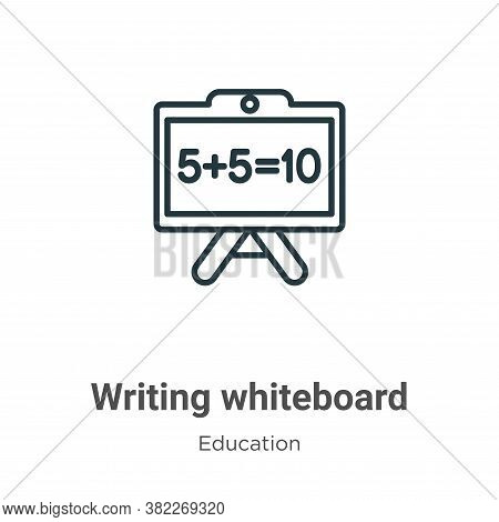 Writing whiteboard icon isolated on white background from education collection. Writing whiteboard i