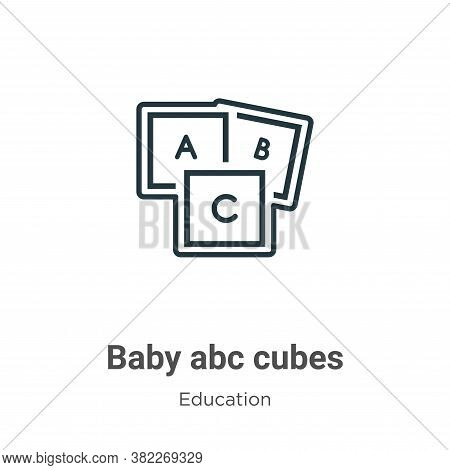 Baby abc cubes icon isolated on white background from education collection. Baby abc cubes icon tren