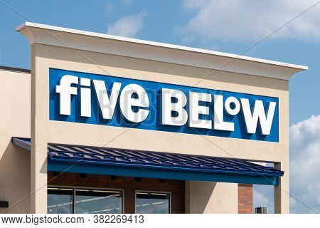 Five Below Retail Store Exterior And Trademark Logo