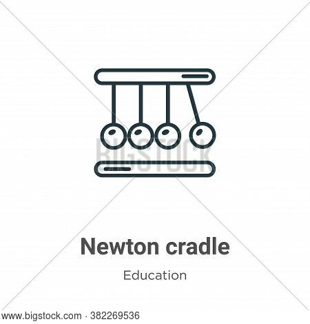 Newton cradle icon isolated on white background from education collection. Newton cradle icon trendy