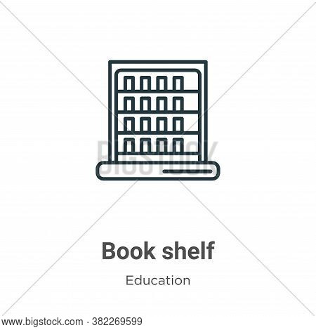 Book shelf icon isolated on white background from education collection. Book shelf icon trendy and m