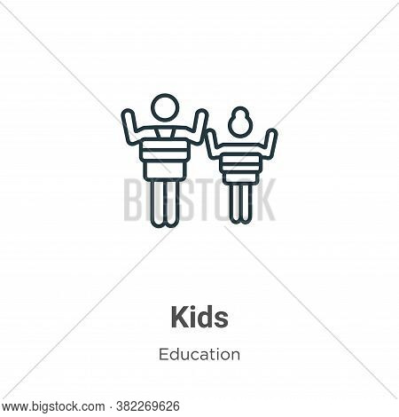 Kids icon isolated on white background from education collection. Kids icon trendy and modern Kids s