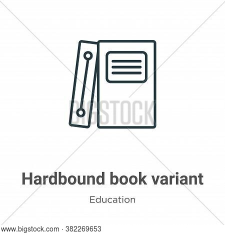 Hardbound book variant icon isolated on white background from education collection. Hardbound book v