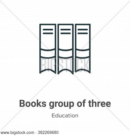 Books group of three from side view icon isolated on white background from side view icon from side
