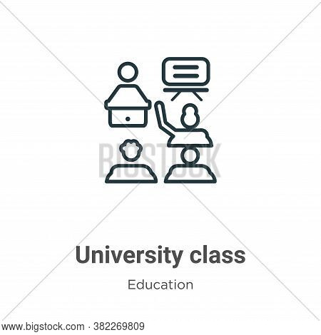 University class icon isolated on white background from education collection. University class icon