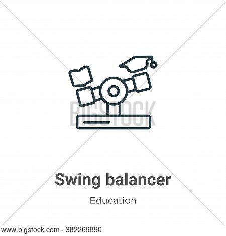Swing balancer icon isolated on white background from education collection. Swing balancer icon tren