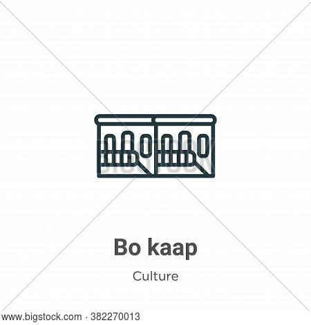 Bo kaap icon isolated on white background from culture collection. Bo kaap icon trendy and modern Bo