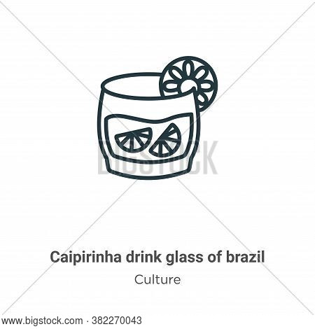 Caipirinha drink glass of brazil icon isolated on white background from culture collection. Caipirin