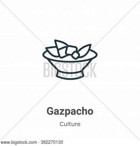 Gazpacho icon isolated on white background from culture collection. Gazpacho icon trendy and modern