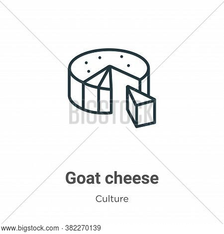 Goat cheese icon isolated on white background from culture collection. Goat cheese icon trendy and m