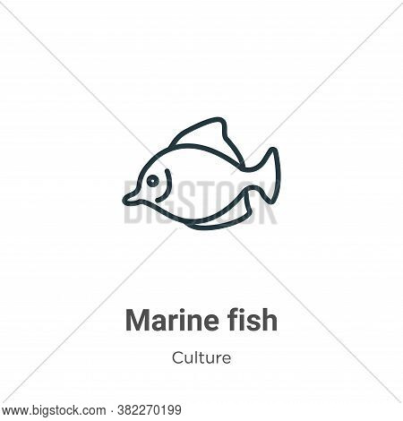 Marine fish icon isolated on white background from culture collection. Marine fish icon trendy and m